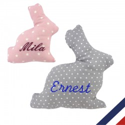 Coussin lapin personnalisable