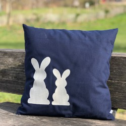 COUSSIN PETITS LAPINS PERSONNALISABLE