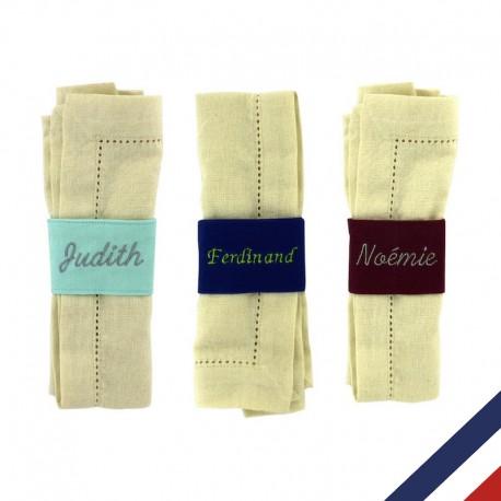 Rond de serviette personnalisable