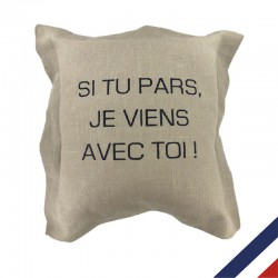 Coussin déco personnalisable made in france