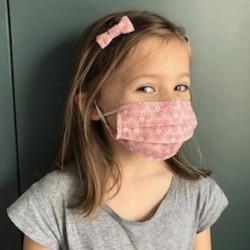 MASQUE ENFANT ÉLASTIQUE ET BARRETTES