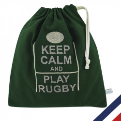 POCHETTE KEEP CALM AND PLAY RUGBY