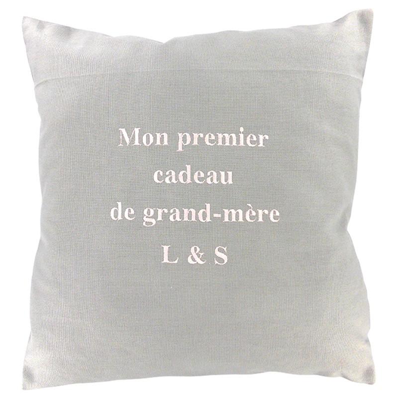 Personnalisé Coussin réservés pour Grand-Mère Cadeau Citron Moderne Floral Crème Coussin
