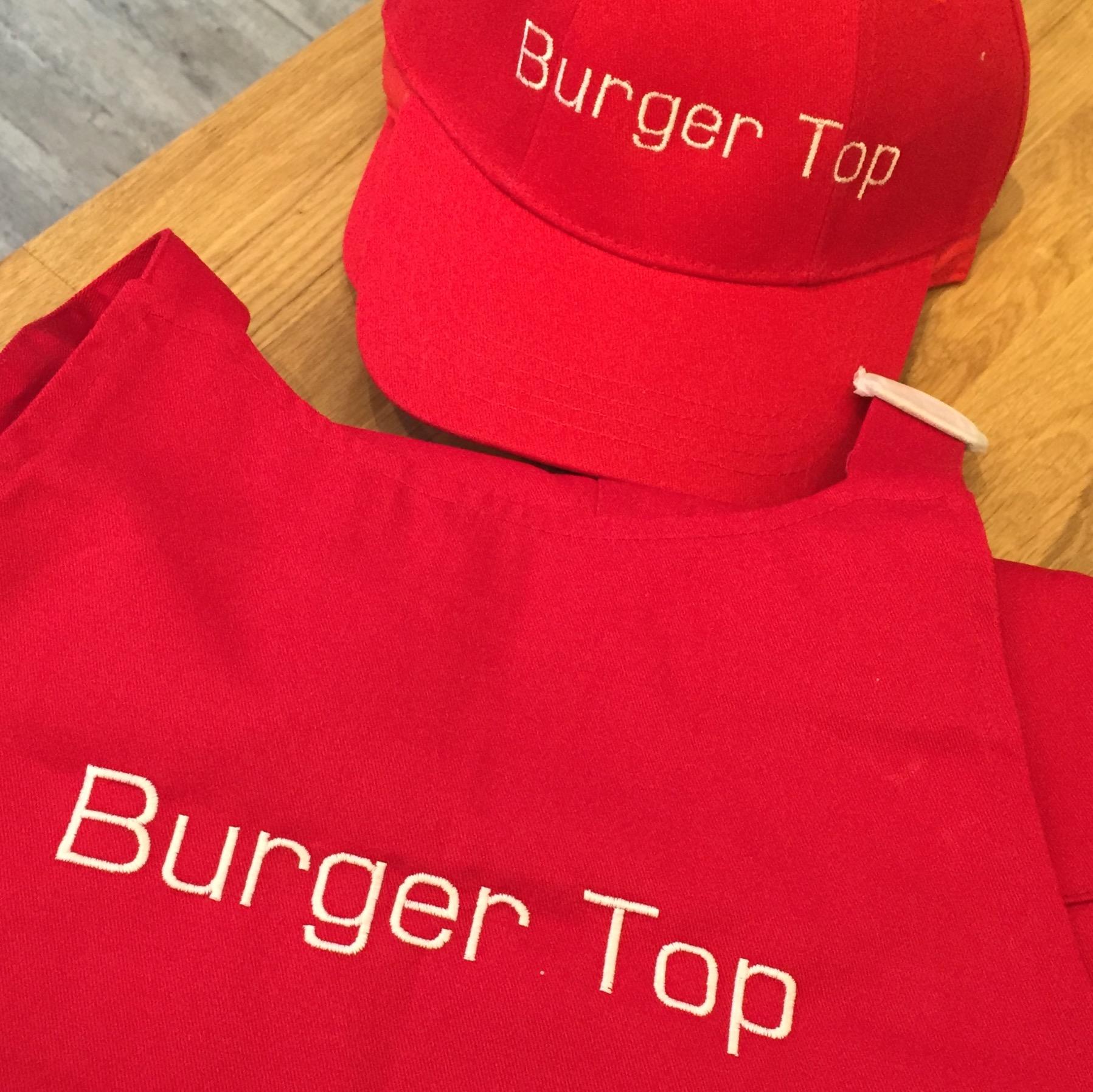 Casquette et tablier Top Burger