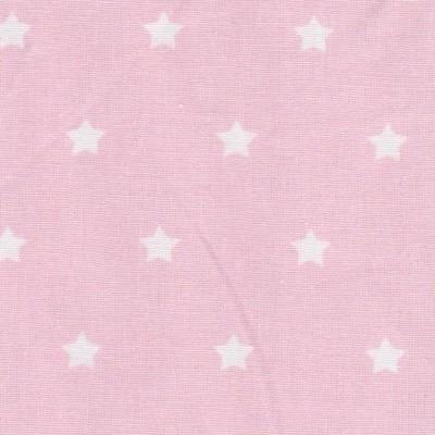 Tissu étoiles roses
