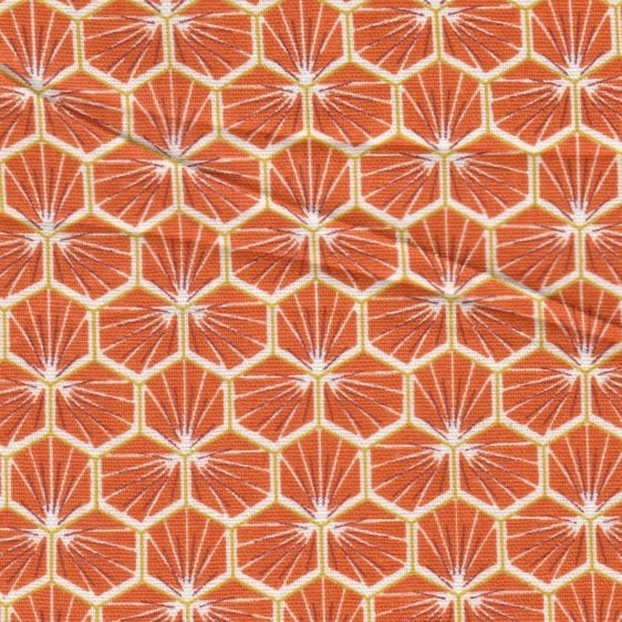 Hexagone orange