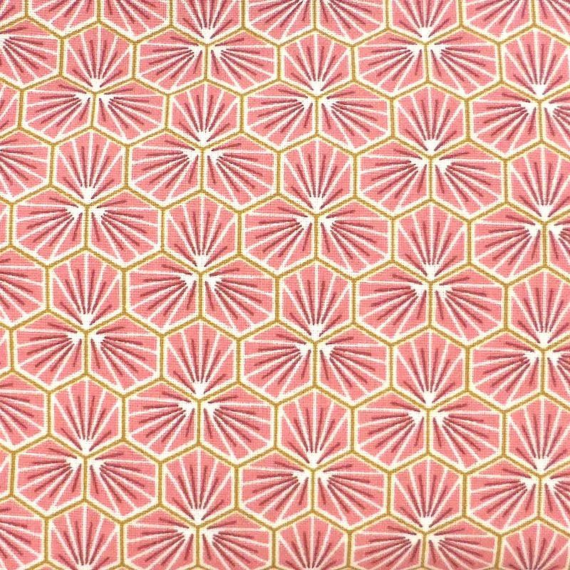 Hexagone rose