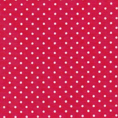 Tissu pois rouge