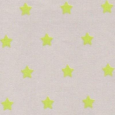 Tissu étoiles vert fluo