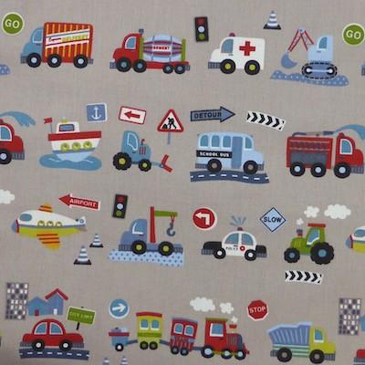 Tissu motif voitures