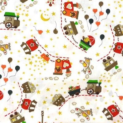 Tissu motif wagon