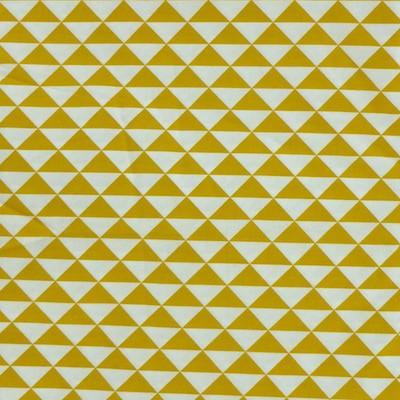 Tissu triangles moutardes