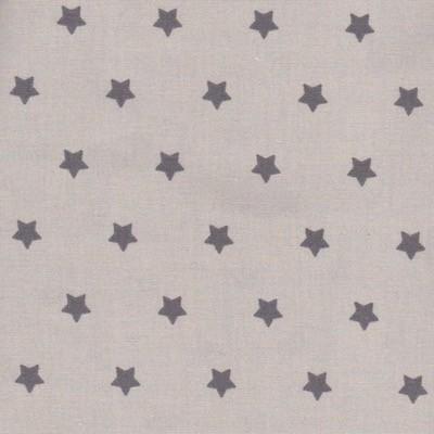 Tissu étoiles grises