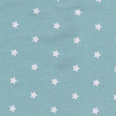 Tissu étoiles turquoise