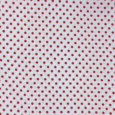 Tissu pois grand rouges