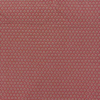 Tissu géométrie rouge
