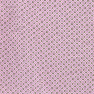 Tissu géométrie rose