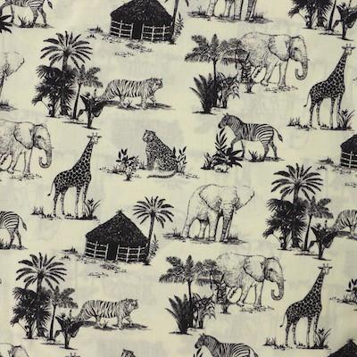 Tissu motif safari