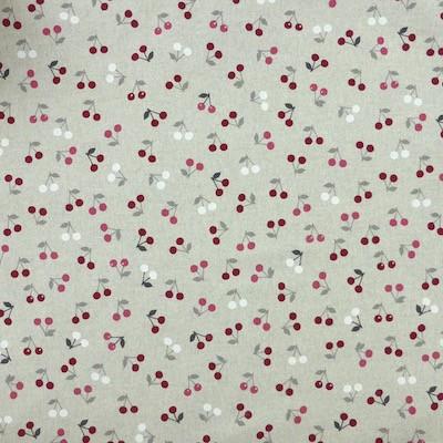 Tissu motif cerises