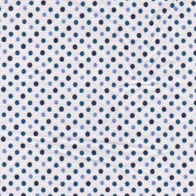 Tissu petits pois bleus