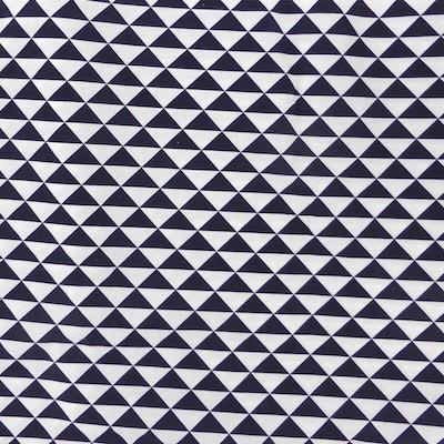 Tissu triangles marines