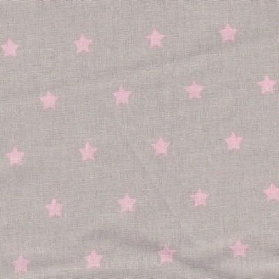 Étoiles roses fond taupe