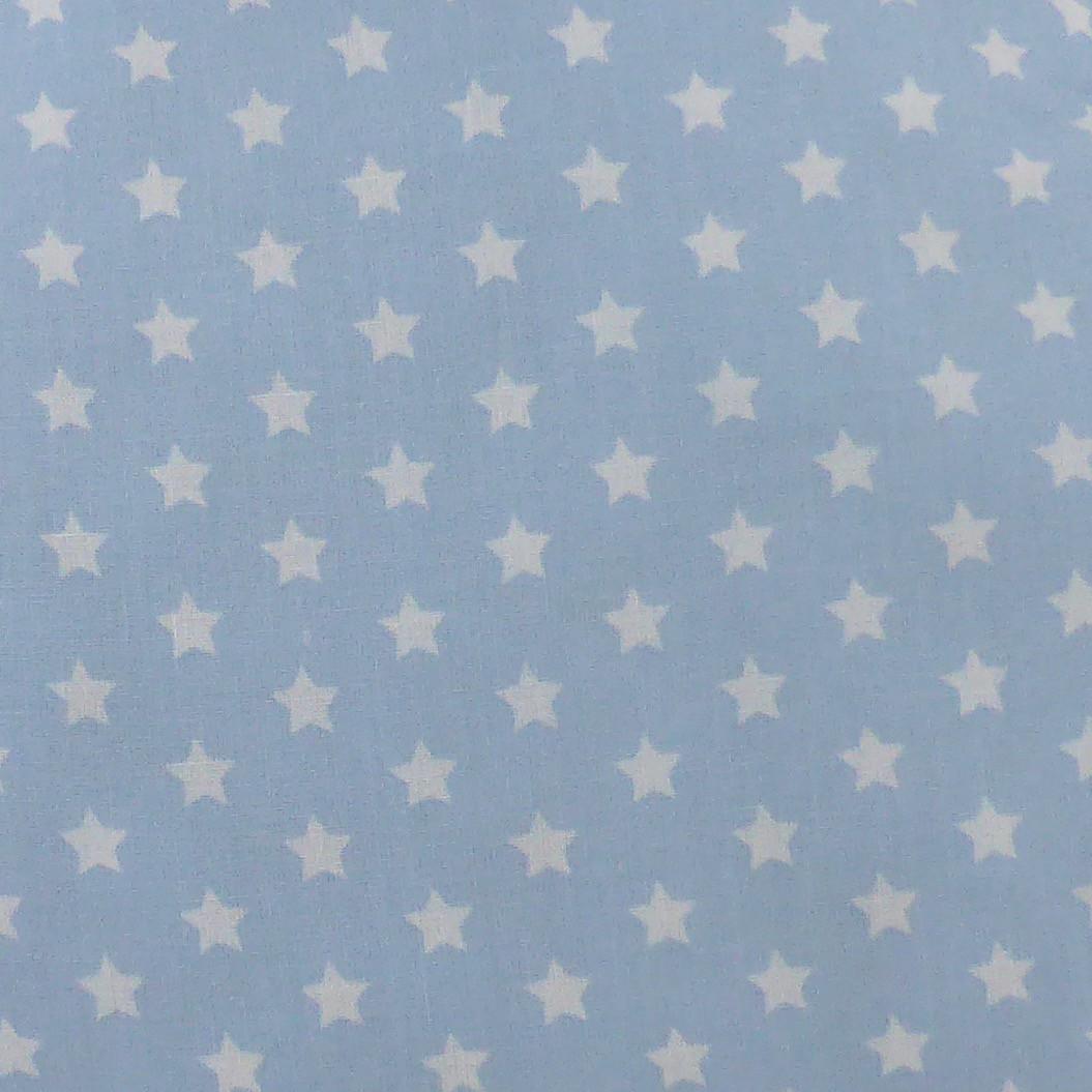 Tissu étoiles bleu ciel