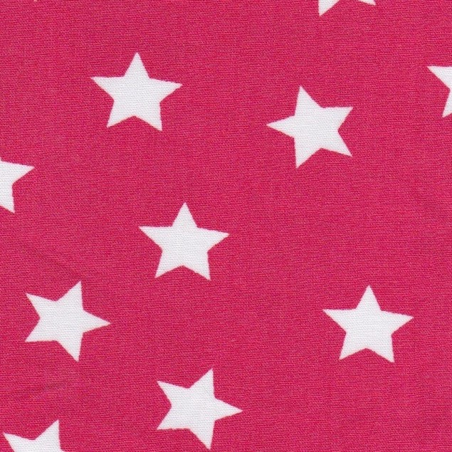 Tissu étoiles rouges