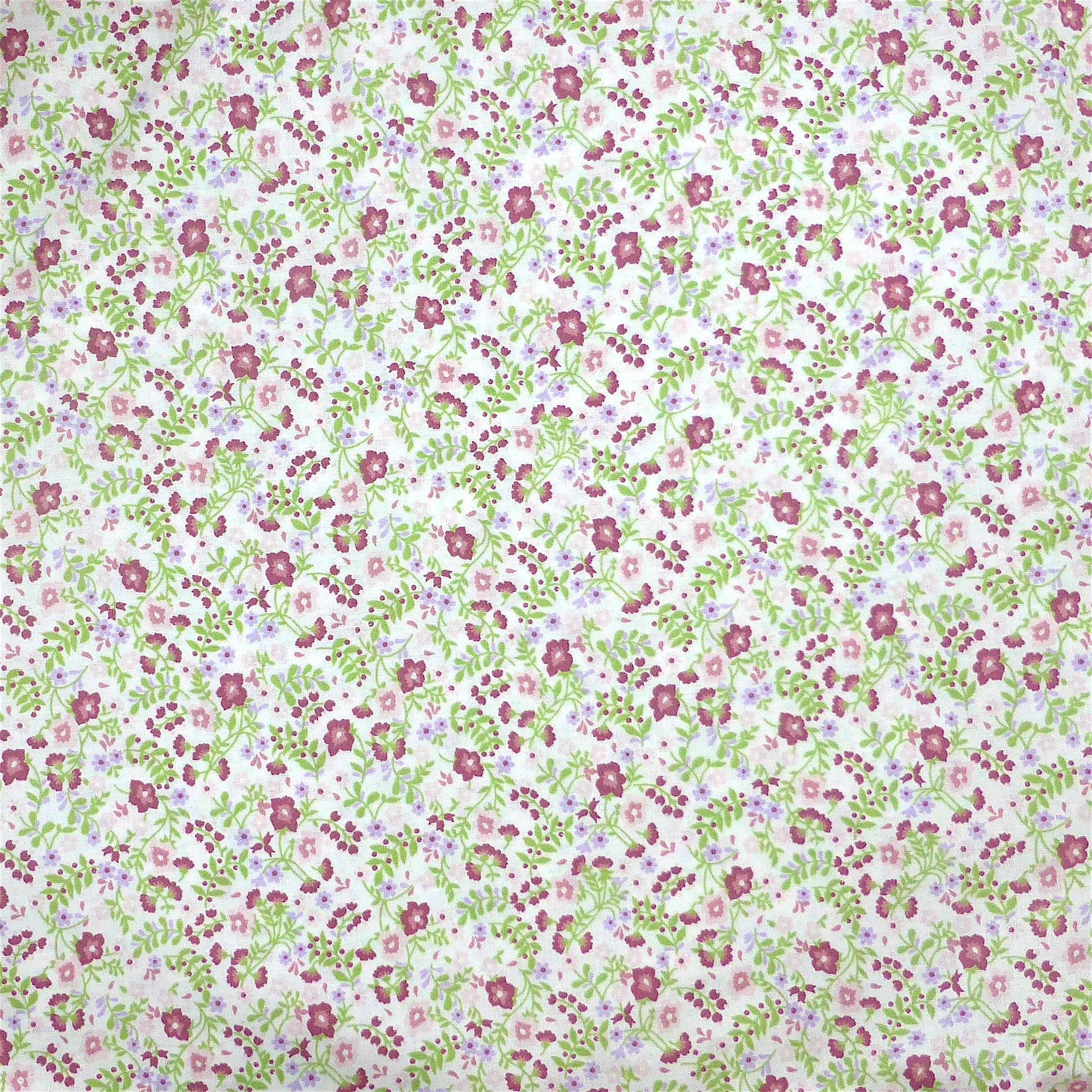 Tissu fleurs roses