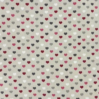 Tissu motif coeurs