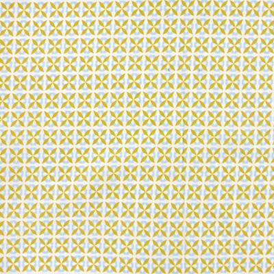Tissu rosaces jaunes
