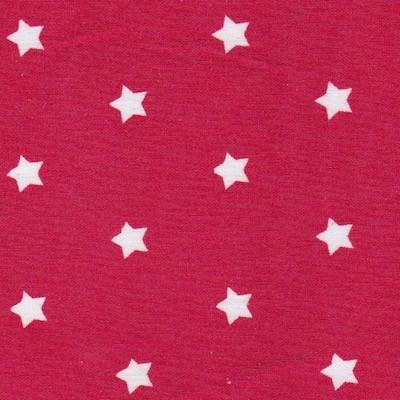 Tissu étoiles petites rouge