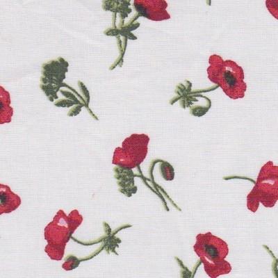 Tissu fleurs coquelicots