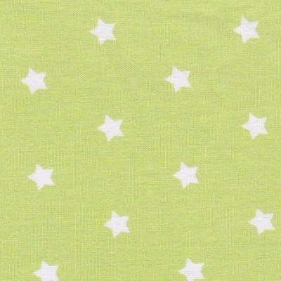 Tissus étoiles petites vertes