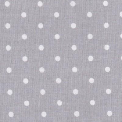 Tissu petits pois gris