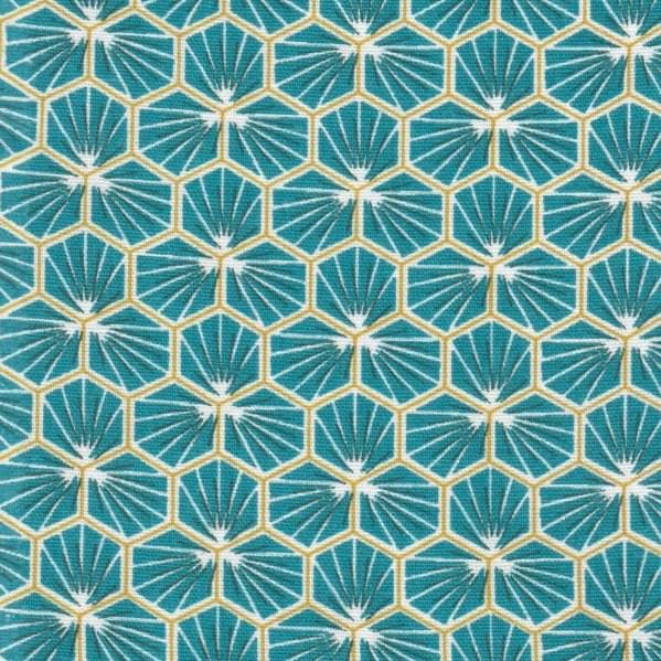 Hexagone bleu canard (New)