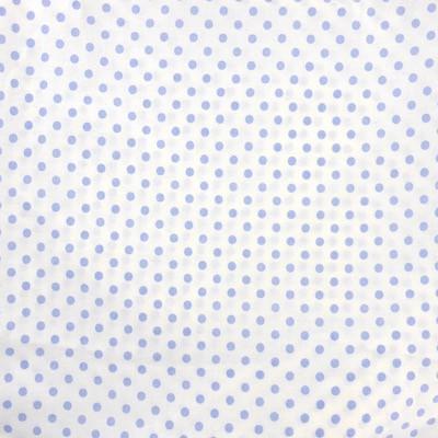 Tissu pois grands bleu ciel